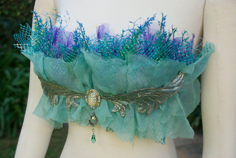 Nereid Seaweed Bra - love the silver decoration