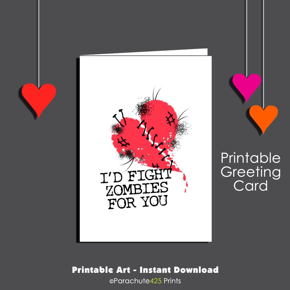 Zombie card printable
