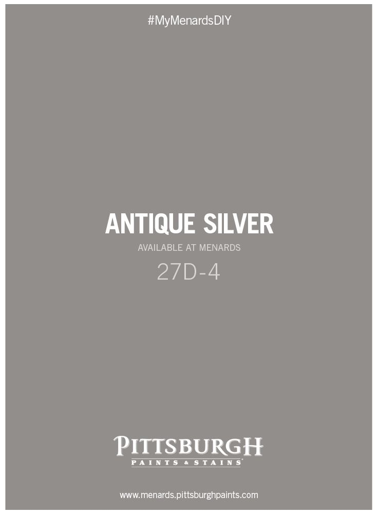 menards exterior house paint. great gray paint color as a neutral for laundry rooms! antique silver by pittsburgh paints and stains at menards. share your room makeover project with us menards exterior house