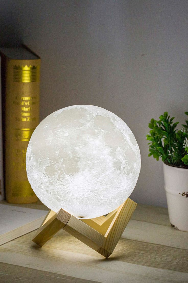 Bring Moon Home Not A Dream Anymore 3d Printed Moon Lamp Photo Realistic Restore A Real Moon For You A Preferred Gift For Your F Lamp Moon Light Lamp Decor