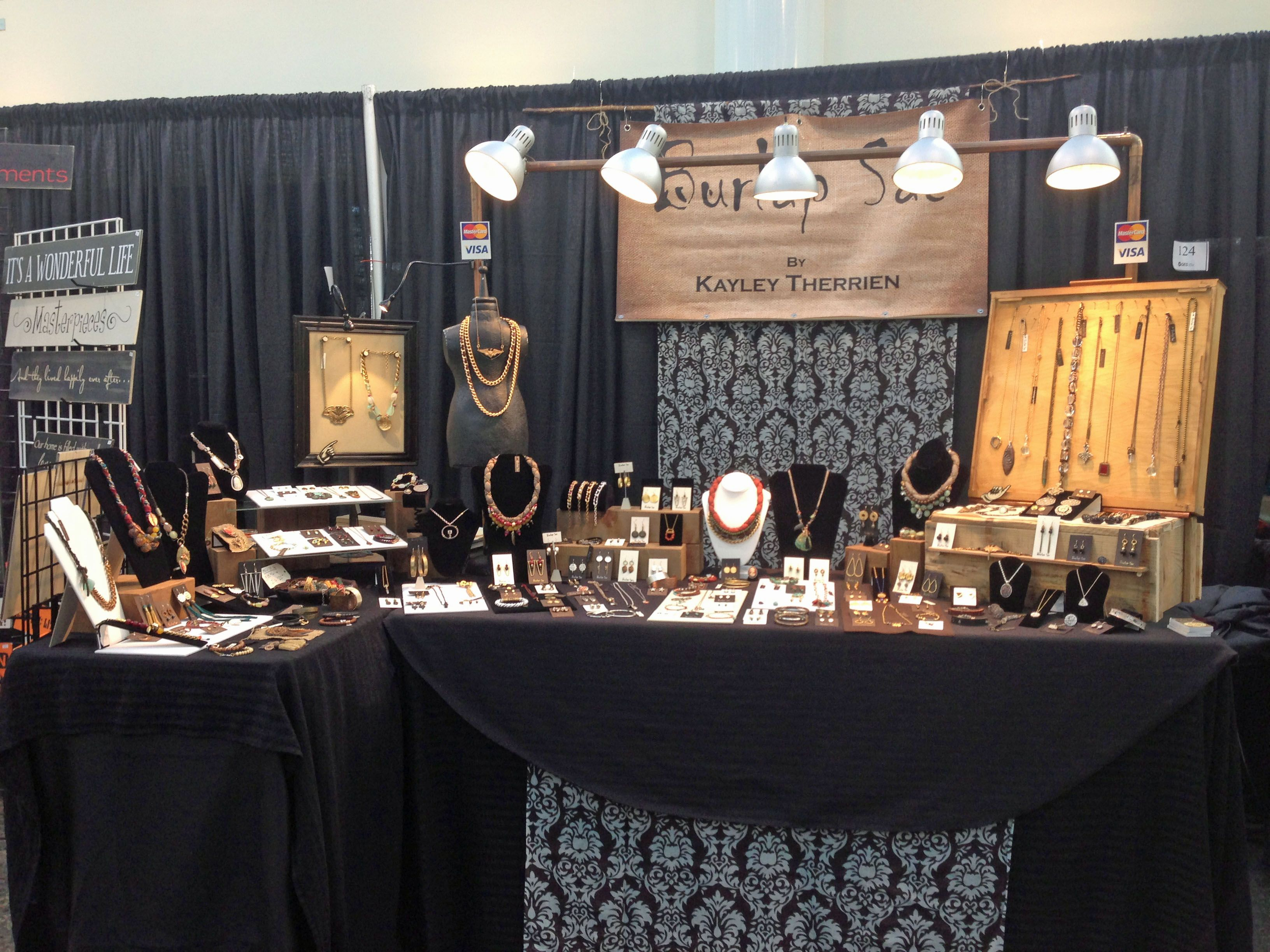 nice Jewellery Booth Ideas Part - 5: Awesome booth! Burlap Sac