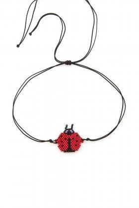 Lidyana Accessories Miyuki Kırmızı Uğur Böceği Halhal
