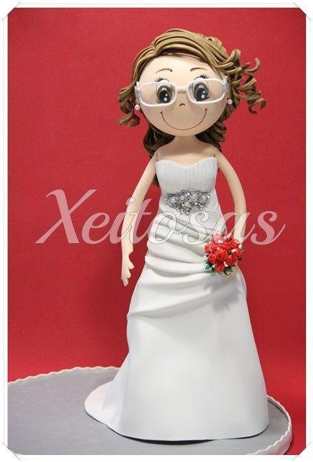 Fofucha novia vestido sirena