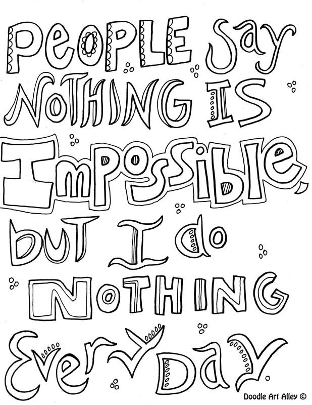 Inspirational Quote Coloring Pages - Doodle Art Alley ...