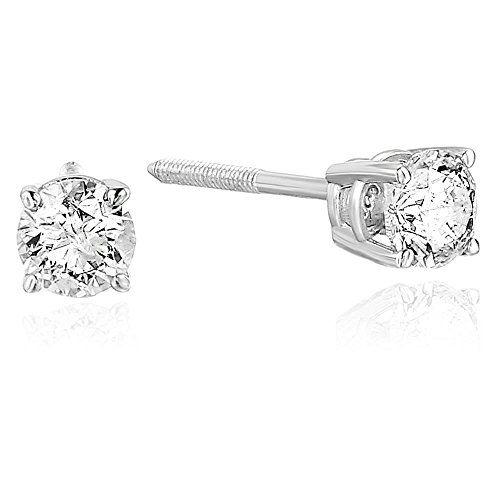 New Vir Jewels 1/4 cttw Certified Diamond Stud Earrings