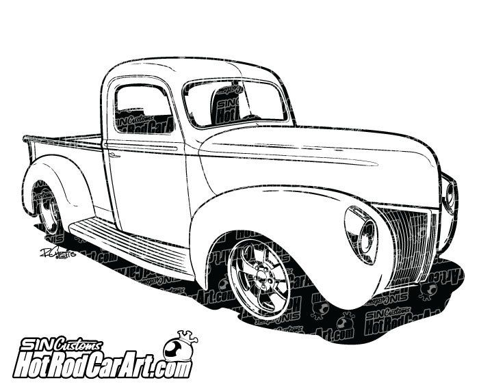 1940 Ford Pickup Truck Clip Art With Images Pickup Trucks