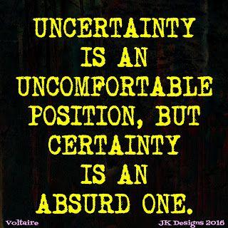 Mijn T-shirt-prints: Uncertainty
