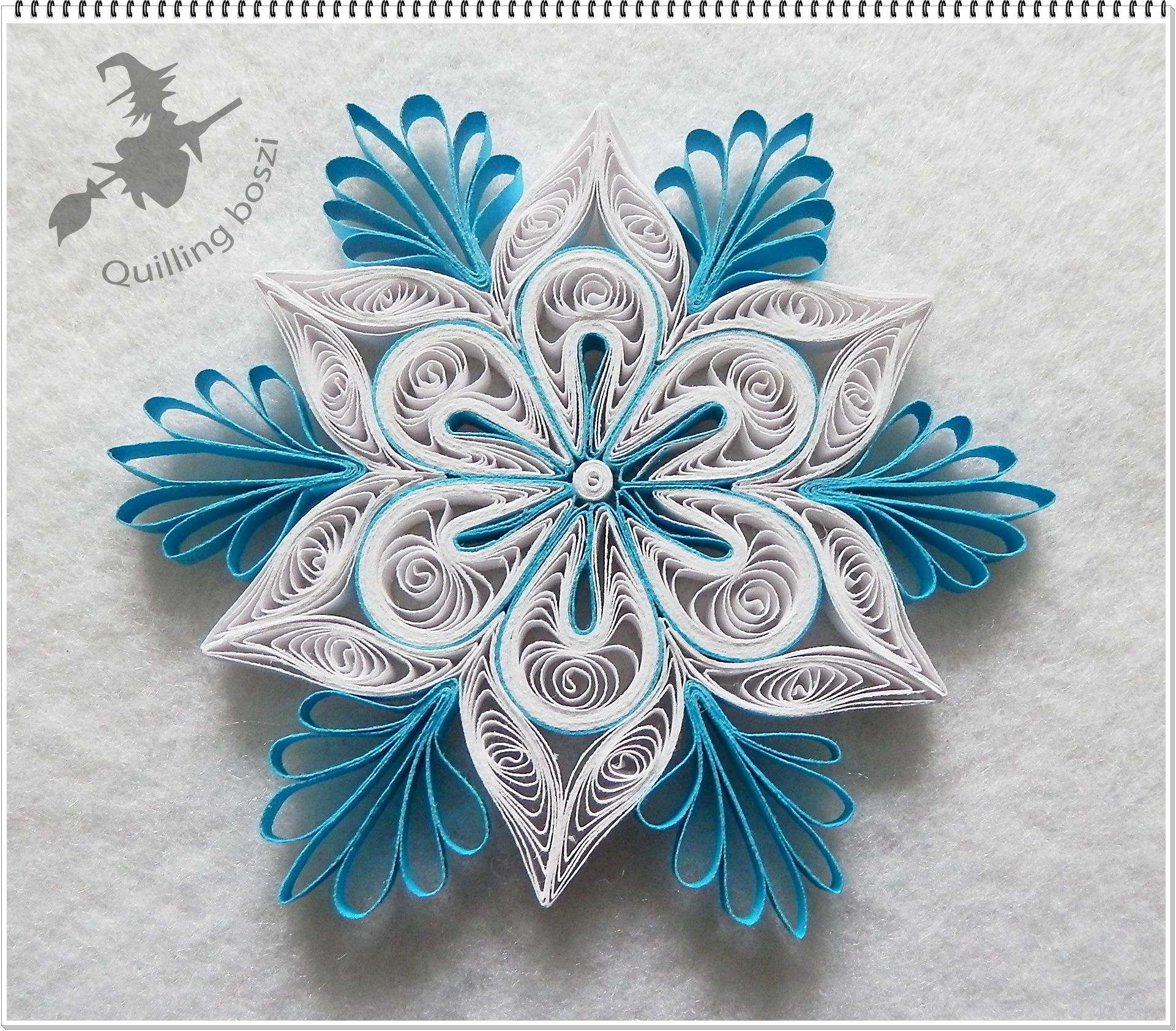 Kar csonyfa d sz quilling kar csony christmas tree for Simple paper quilling designs