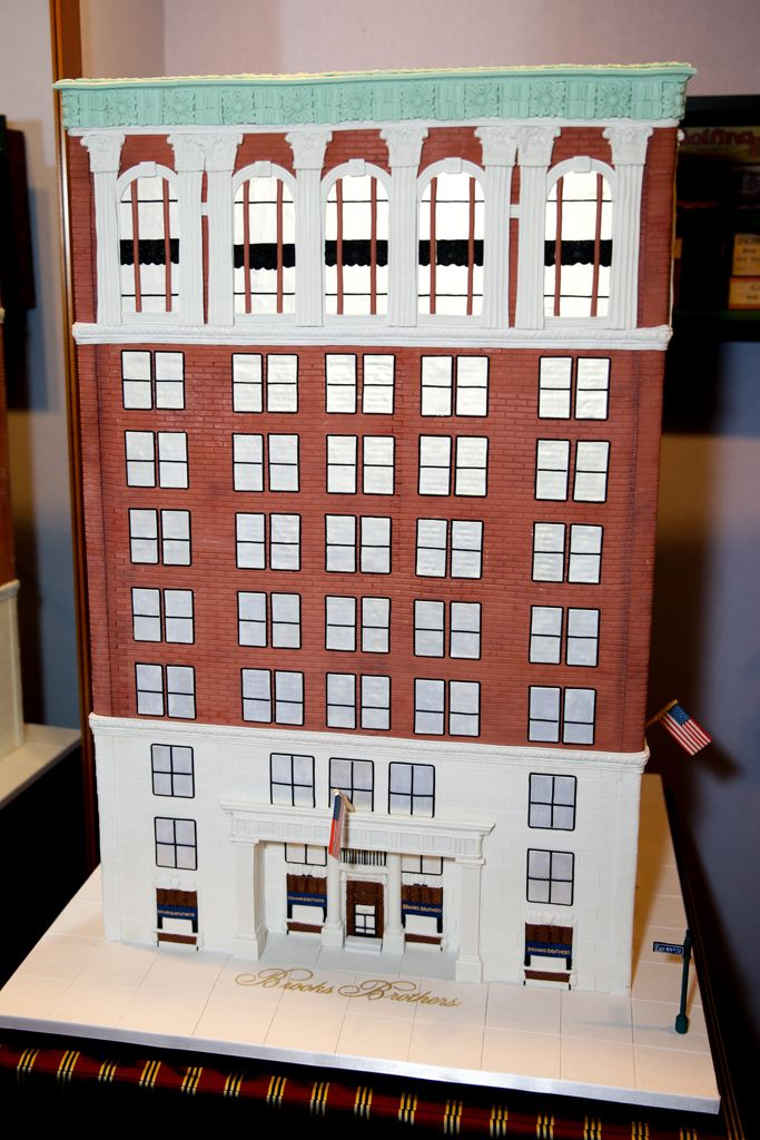 Brook's Brothers cake by Ron Ben-Israel Cakes celebrating the 100th birthday of the iconic Madison Avenue store