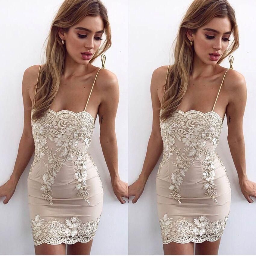 48895cb2219 Sheath white lace straps short tight homecoming dresses also hoprom rh  pinterest