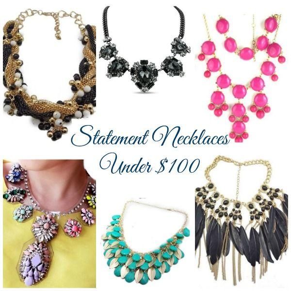 Statement Necklaces Under 100