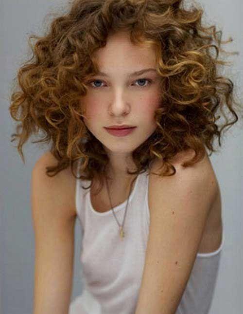 Short Medium Curly Hairstyles Halflang Krullend Haar Krullend