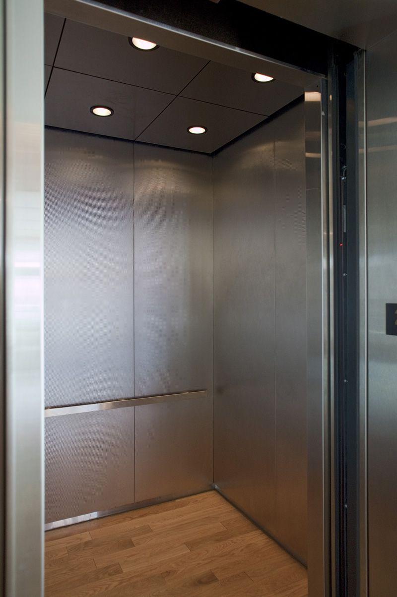 Rigidized Metal For Elevator Doors And Cab Interiors Elevator Design Elevator Interior Interior Design School