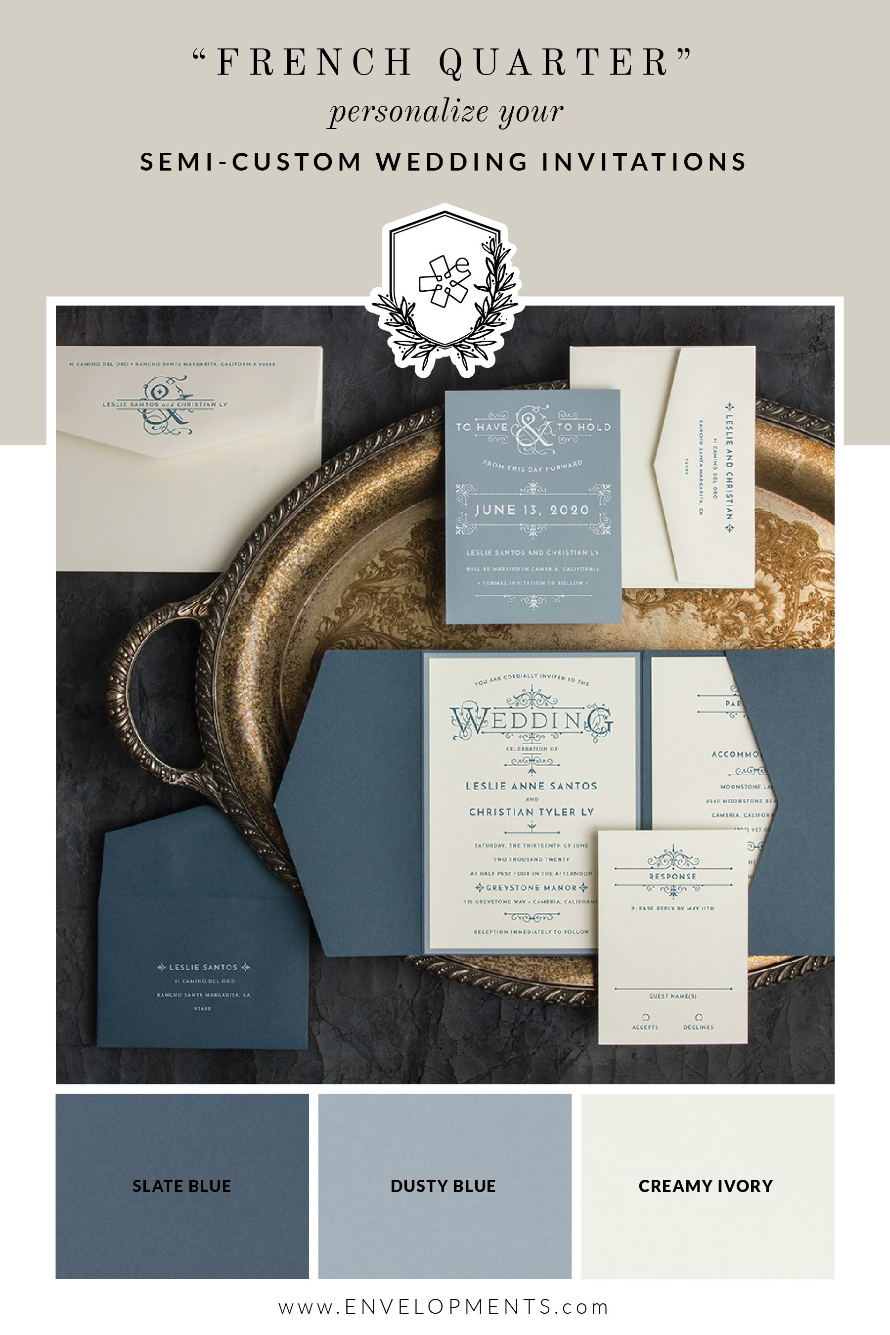 Personalize your wedding invitation with your unique color