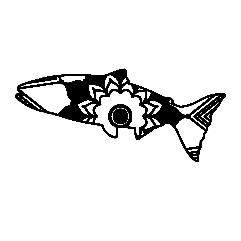 King Salmon Mandala Animal Svg T Shirt Digital Clipart Mandala