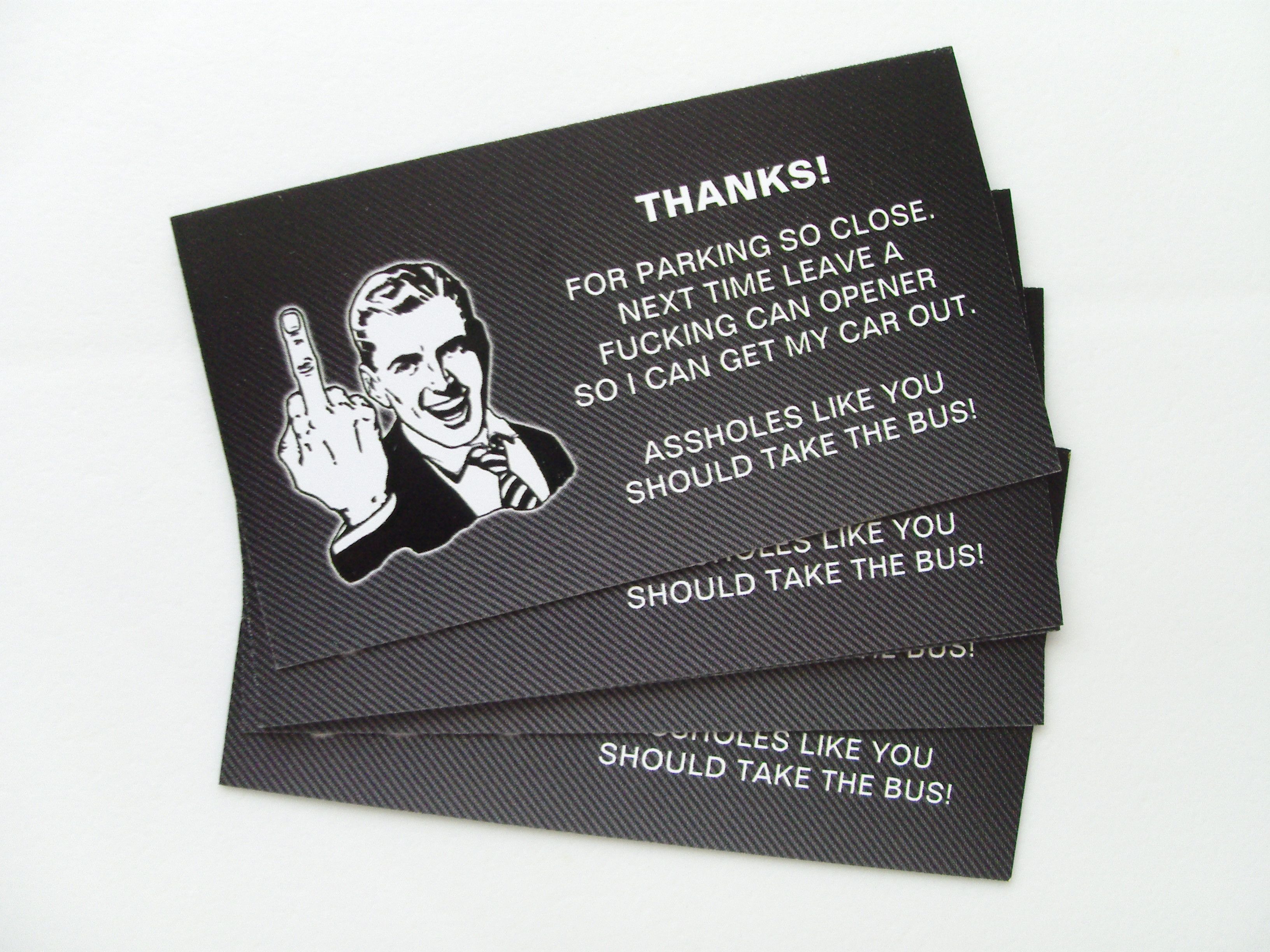 you suck at parking cards funny parking cards for those who can t