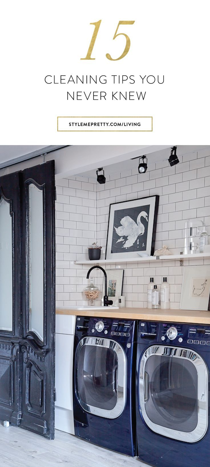 15 cleaning hacks to try laundry laundry rooms and room 15 cleaning hacks to try white subway tileslaundry dailygadgetfo Images