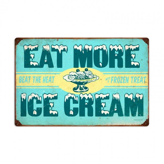 Ice cream retro planet advertising metal sign vintage style diner cafe signs home decor