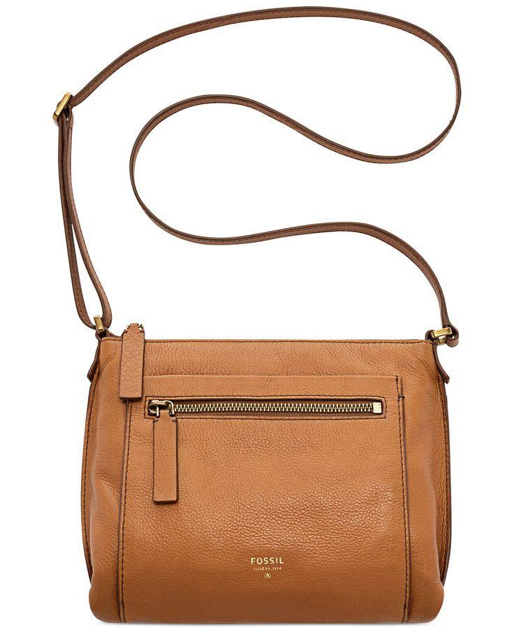 Fossil Vickery Leather Crossbody Handbags Accessories Macy S Las Purses And