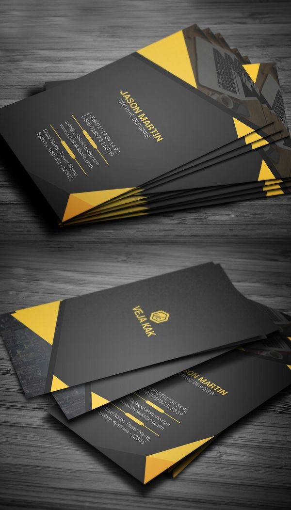 Vertical corporate business card business card pinterest vertical corporate business card reheart Image collections
