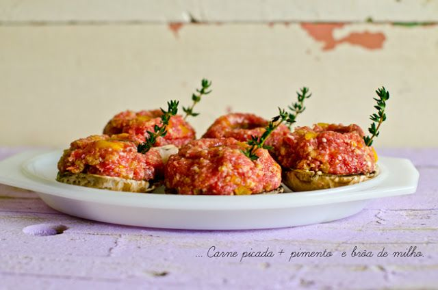 Cogumelos c/ carne picada