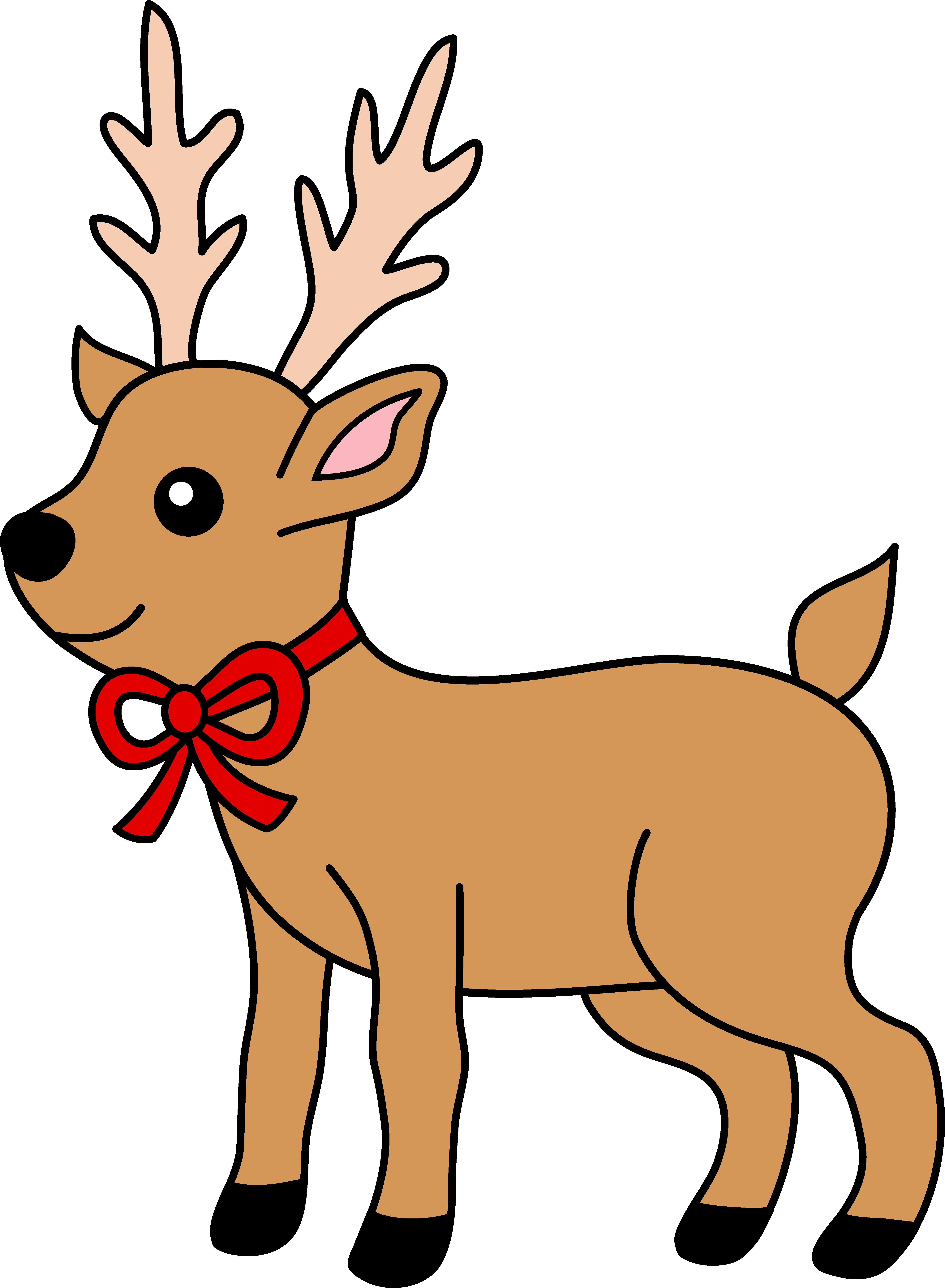 Christmas Reindeer Clipart Clip Art Library Reindeer Drawing Clip Art