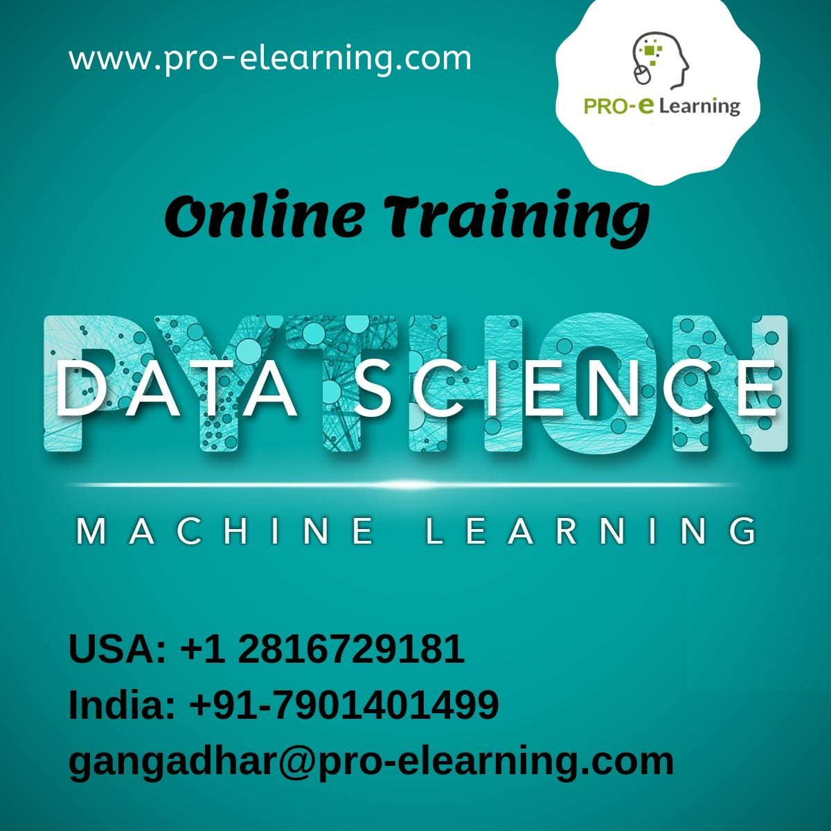 DataScience Python MachineLearning online Training Don