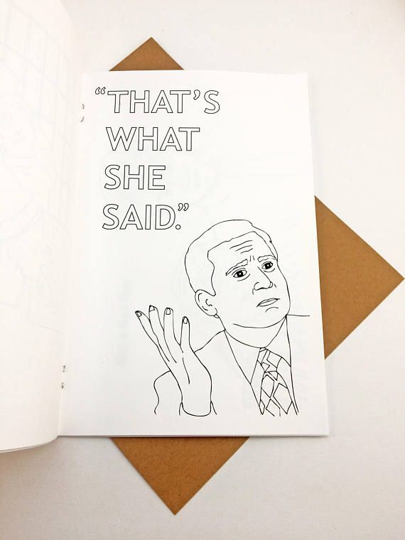 The Office Coloring Book Rainy Day Stress Relief Etsy Coloring Books Rainy Day Best Of The Office