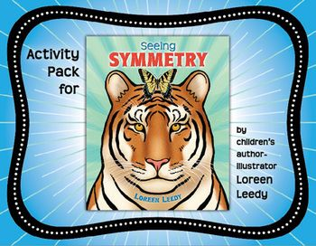 """Kids will be """"Seeing Symmetry"""" with these FREE activities related to my newest picture book! Most are suitable for Math Centers and only a couple require the book."""