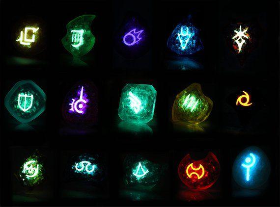 FFXIV Glow in the Dark ALL 18 Soul Crystals / Job Stone Collectors Edition Bundle FF14 Final Fantasy 14 Crystal/Stone Bundle