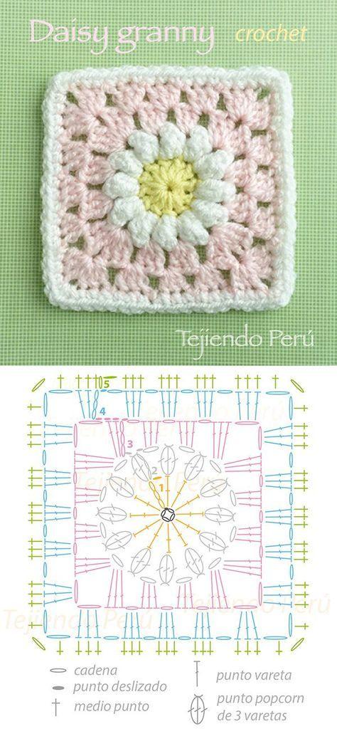 Tutorial Granny Square - Paso | | Hemen yap | Pinterest | Colchas ...