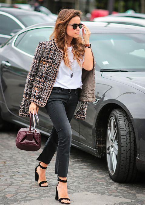 Miroslava Duma S Tweed Jacket Look Rdujour Wardrobe Wishlist