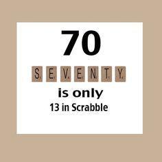70th Birthday Card Milestone Birthday 70th Birthday Scrabble Birthday Card Scrabble The Big 70 1951 Birthday Card 70th Birthday Card Funny Birthday Cards 70th Birthday