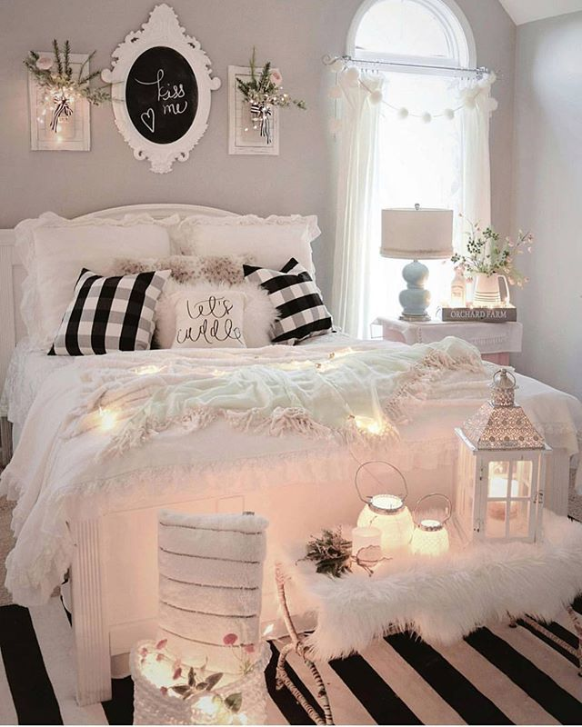 Bedding Bedroom Home Chambre Confortable Deco Chambre