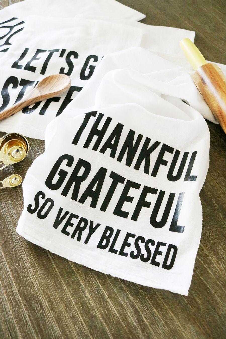 DIY Thanksgiving Tea Towels Thanksgiving diy