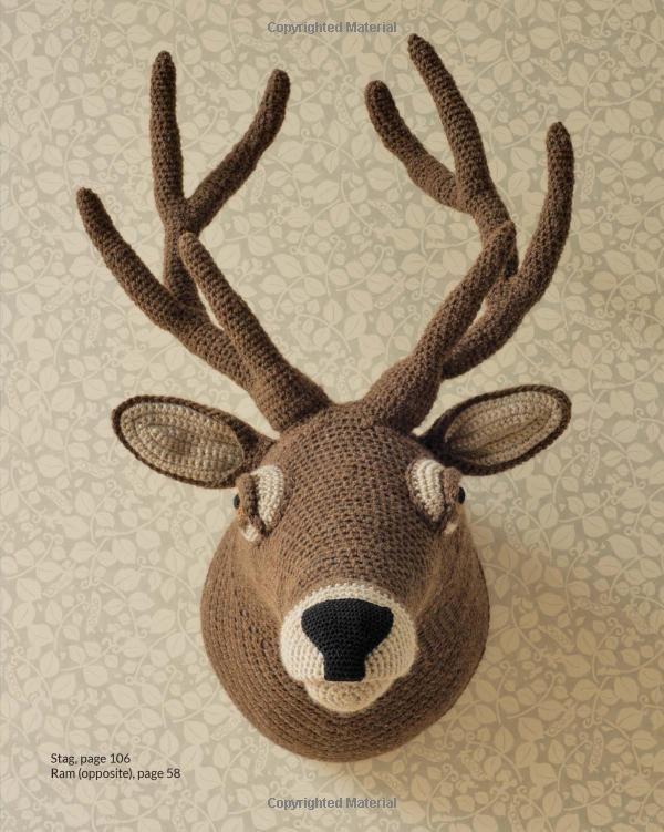 Animal Heads Trophy Heads To Crochet Amazoncouk Vanessa Mooncie