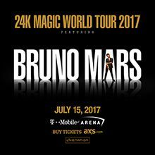 Bruno Mars: 24K Magic Tour tickets at T-Mobile Arena in Las
