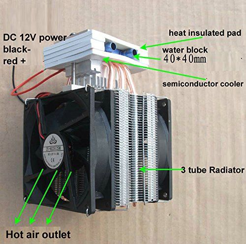 Qianson Thermoelectric Peltier Semiconductor Refrigeration Water Cooling System Cooler Fan Te Refrigeration And Air Conditioning Water Cooling Water Cooler Fan