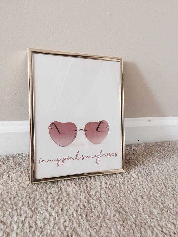 miranda lambert pink sunglasses custom wall art