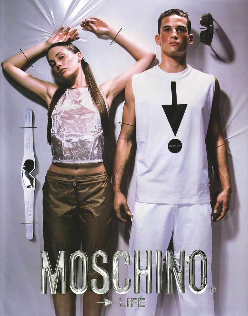 09fde26a9a7 90s Moschino advertising campaign.  moschino  editorial  magazine  vintage   fashion  advertisement
