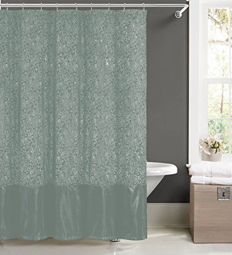 906be5d581c Royal Bath Minka Shower Curtain 2Pc Set With Hooks  Spa Blue
