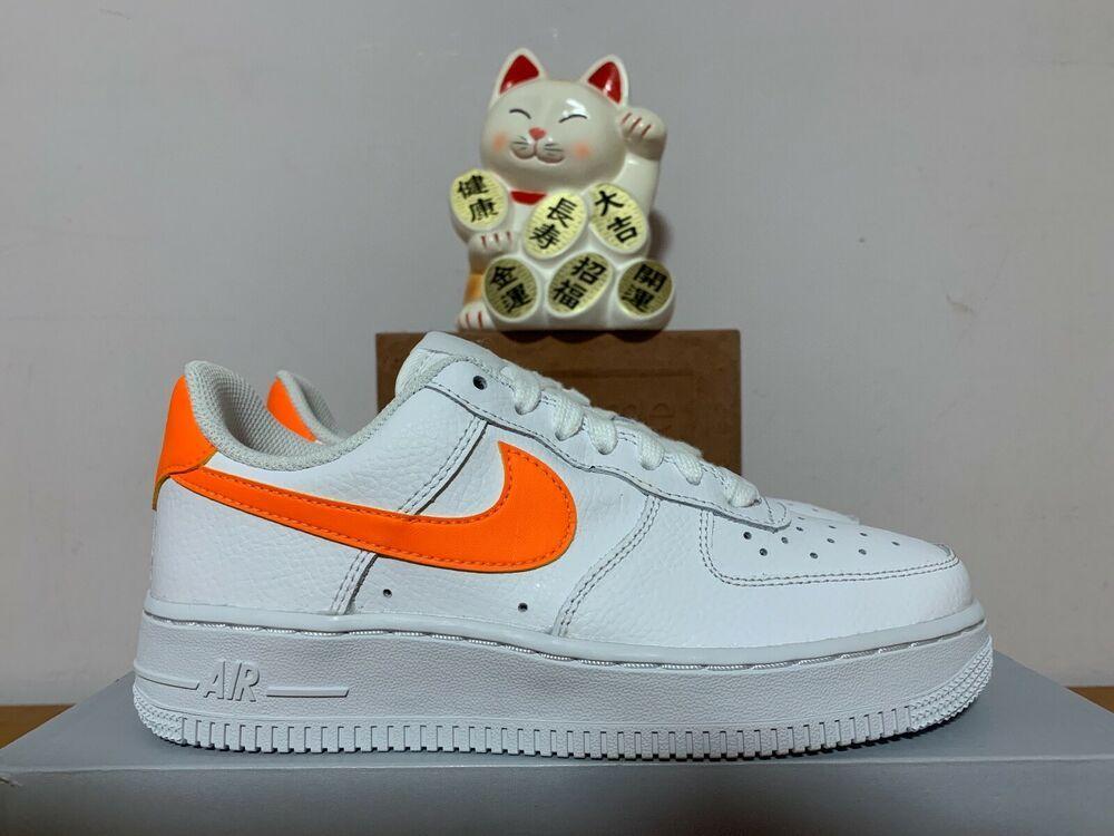 8a8778de16449 Nike Air Force 1 '07 White Total Orange New Women's 5 [AH0287-101 ...