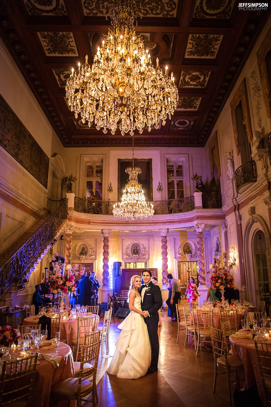 Lighting And High Low Centerpieces