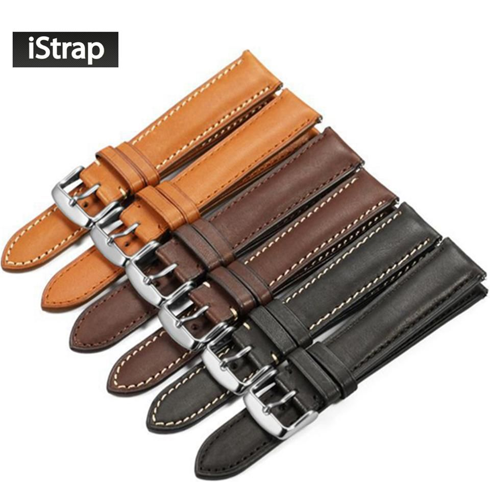 09d12b45950 iStrap France calf leather Watch strap 18mm to 22mm Genuine leather Watch  band with Silver Pin buckle For IWC For Omega Seiko.  istrap  pin buckle   omega ...