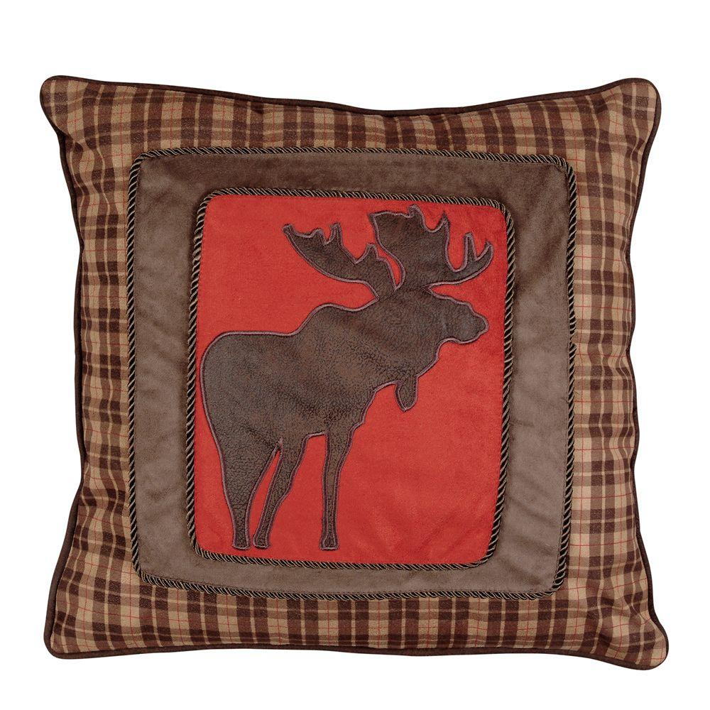 Mountain Trail Plaid Moose Plaid Accent Pillow Plaid