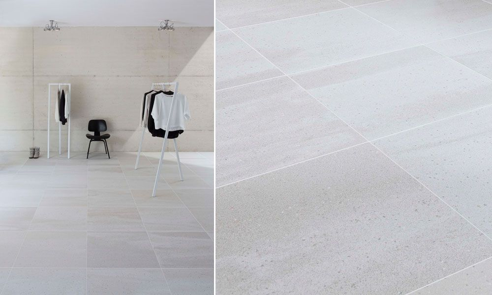 Stark Marble White Large Format Floor Tiles Kentrell Bath