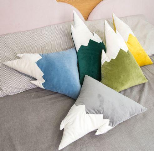 Boobootik Snow Mountain Decoration Throw Pillow Cushion For Kids