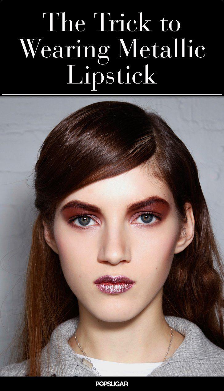 Pin for Later: Tendance Maquillage: Oserez Vous Porter un Rouge à Lèvres Métallique?