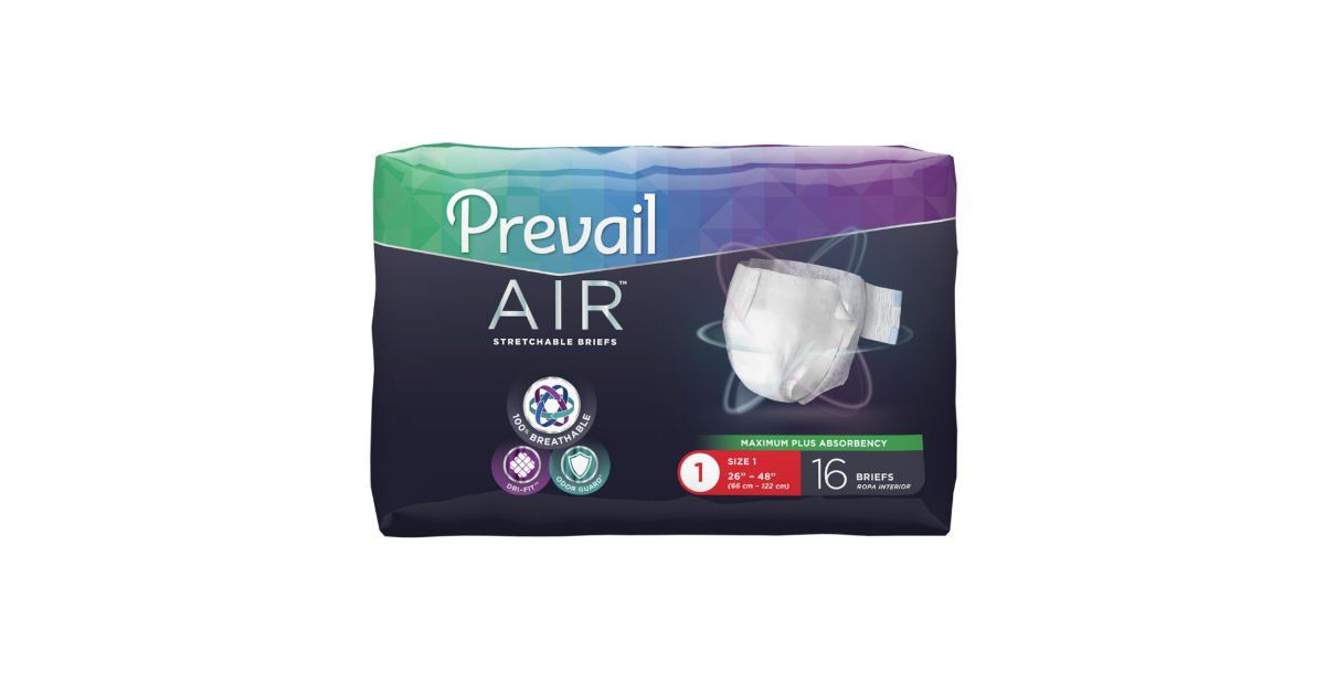 Free Prevail Air Stretchable Briefs Sample Pack Adult