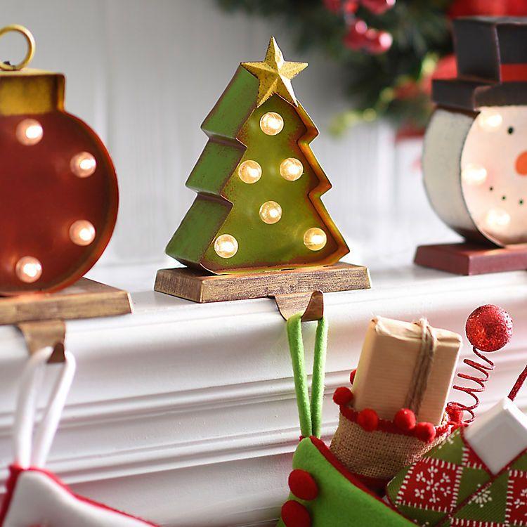 Christmas Tree Pre-Lit Stocking Holder | Christmas Ideas | Pinterest ...